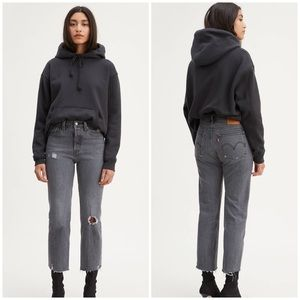 NWT Levi's Distressed Wedgie Straight Jean